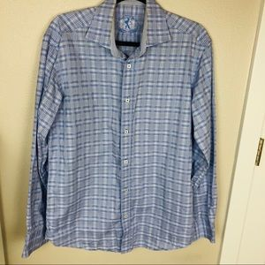 Bugatchi Men's Plaid Button Front Causal Shirt